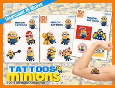 Minions Tattoo 15 Tattoos auf drei Bögen Neu & OVP DESPICABLE ME MINION