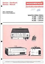 Nordmende original Service Manual para Spectra V/F/n 350 parte de circuitos 3