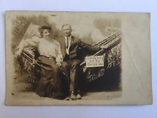 Postcard Honeymooners young lovers honey moon nobody looking but owl A8