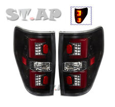 09-14 F-150 F150 Streak Style Red Led Brake Signal Tail Lights Lamps Black Red