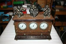 Speak, hear, and see no evil desk clock