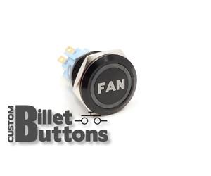FAN Laser Etched Billet Push Buttons 12V LED Car Motorcycle Racing