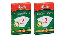 Melitta Super Premium #2 Cone Filter Paper White, 40 Count - Set of 2