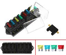 8 Way Auto Car Boat Circuit Standard ATO ATC Blade Fuse Box Block Holder 12/24V