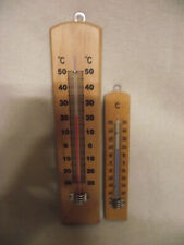 2 alte Thermometer Holzthermometer Wandthermometer
