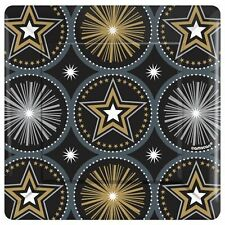 HOLLYWOOD Glitter Starz SMALL PAPER PLATES (8) ~ Birthday Party Supplies Dessert