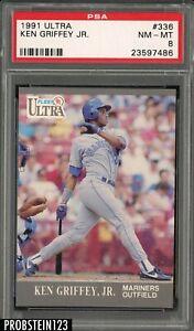 1991 Fleer Ultra #336 Ken Griffey Jr. Seattle Mariners HOF PSA 8 NM-MT