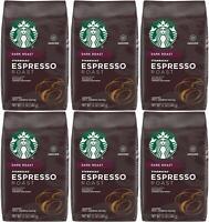 6 PACK Starbucks Espresso Dark Roast Ground Coffee Best Before 1/2021
