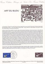 Document philatélique 29-83 1er jour 1983 Art du Bijou