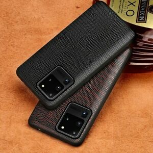 Non-Slip Genuine Leather Lizard Case For Samsung S20 Ultra Plus S10+ Matte Cover