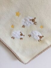 Pottery Barn Kids Lamb Sheep Stars Fleece Crib Blanket White/Cream 29 x 38