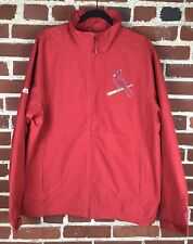 Majestic St. Louis Cardinals STL Red Zip Up Jacket Size M Medium $99