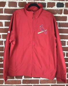 Majestic St. Louis Cardinals STL Red Zip Up Jacket Size L Large $99