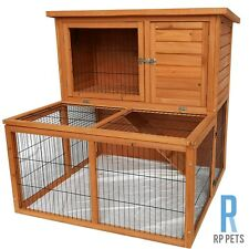 Rabbit Hutch Wooden Bird/Chicken/Chook/Hen/Animal Coop Guinea Pig Cage Pet House