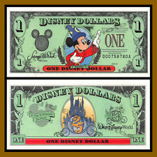 "Disney 1 Dollar, 1997 ""DA"" Series Walt Disney World Unc"