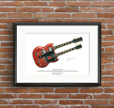 Jimmy Page's Gibson EDS-1275 ART POSTER A3 size