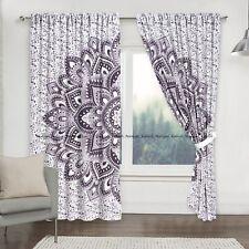 Indian Flower Mandala Cotton Hippie Bohemian Window Door Curtains Drapes Hanging