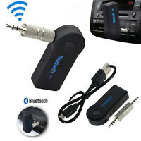 Wireless 3.0 Bluetooth Audio Receiver Aux 3.5mm Music Car Adapter Dongle Mic uk