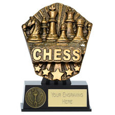 CHESS TROPHY ENGRAVED FREE CHECKMATE PAWN KING QUEEN BISHOP COSMOS RANGE WINNER