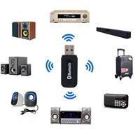 USB 3.5mm Wireless Bluetooth Music Audio Auto Car Handsfree Receiver Adapter YU