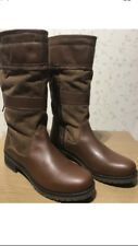 Size 6 New Wrangler Womens Ladies Winter tan Genuine Real Premium leather boots