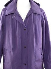 Giacca Woman XXL Purple Jacket / Coat  W/ Detachable Hood - Faux Fur Lining