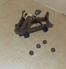 1965 Marx Fighting Knights play set Catapult with 4 rocks