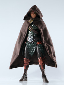 SP-HC-ELF-BN: Brown wired Hooded cape for Mythic Legions Elf Ranger (No Figure)