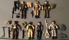 1984-86 Hasbro GI Joe lot of 7 diff figures w/accy's