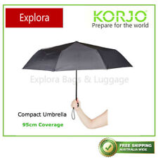 Korjo Compact Umbrella - Black, Quantity: 1