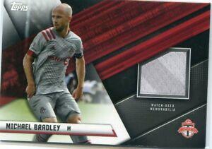 2021 Topps MLS Soccer MICHAEL BRADLEY Match Used Jersey Patch Relic TORONTO FC