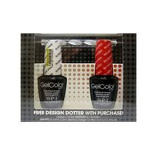OPI Alpine Snow Gel & Big Apple Red Gel Boxed Set with Free Nail Art Tool