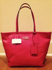 NEW COACH Red Currant LEATHER TAXI ZIP TOP TOTE BAG PURSE Retail $295 NWT