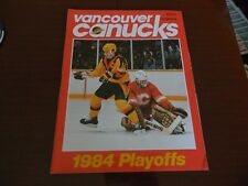 1984 Vancouver Canucks program vs CALGARY FLAMES Playoff vol.14 Game 41 April 7