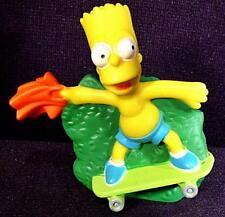 Simpsons Movie 2007 Burger King Kids Club Fast Food Figure BART on a SKATEBOARD