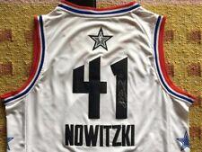 Dirk Nowitzki Signed Autograph Rare Dallas Mavericks All Star Jersey HOF NBA