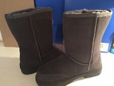 Short Outdoor Sole Sheepskin Boots Grey Size 7 Men Outer Sole 26 cm Height 23 cm