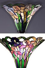 Tiffany Style Vintage Torchiere Floor Lamp Stained Glass Light Antique A Fixture