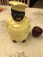 """Vintage Black Americana Chef """"Cooky"""" Cookie Jar"""