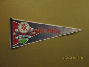 Columbus Redd Stixx Vintage Circa 1993 Golden ParkTeam Logo Baseball Pennant