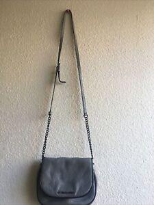 Michael Kors Bedford Small Flap Messenger Crossbody Bag (Gray)  Pre-owned