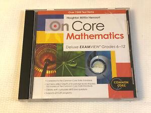 On Core Mathematics Deluxe EXAMVIEW Grades 6-12 CD ROM Math Test Vista 8 7 XP