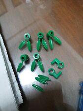 Non-Lego LOT of Bricks - Green Color 7 pieces - Check Below