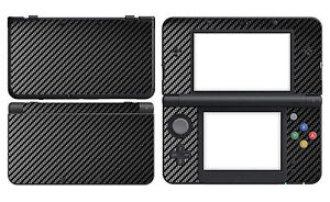 Black Carbon Fiber Vinyl Decal Skin Sticker Cover for Nintendo New 3DS 2015