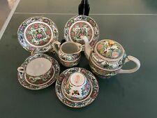 8-piece China exported porcelain antiques incl. plates, teapots, saucers, etc.