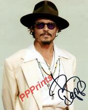JOHNNY DEPP jack pirates sweeney alice AUTOGRAPHED 10X8 SIGNED REPRO PHOTO PRINT