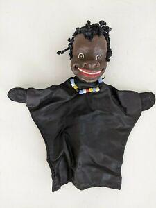 Vintage Black / African Boy Puppet - Germany 1960s