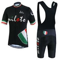 Men's Cycling Clothing Kit Bike Jersey and Padded (Bib) Shorts Team Set S-5XL