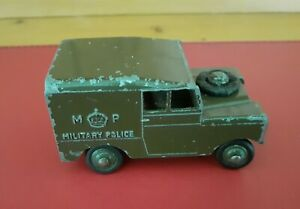 VINTAGE DIECAST MILITARY POLICE LANDROVER MADE IN ENGLAND
