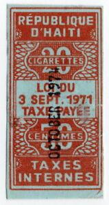 (I.B) Haiti Revenue : Cigarette Duty 50c